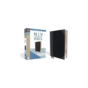 9780310448853 NIV Thinline Bible Black Grey